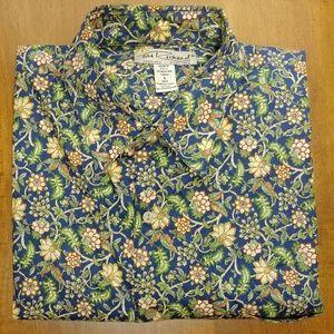 Tori Richard Cotton Lawn Design Hawaiia Shirt Sz L